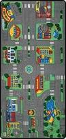 3x5 area rug play road driving time street car kids city map fun
