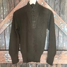 dannijo vintage army green sweater