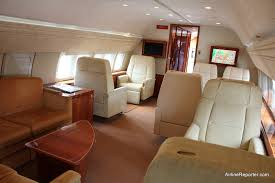 review flying like a boss in a boeing business jet the front living area
