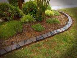 creative flower bed edging concrete curbing bungalow yards