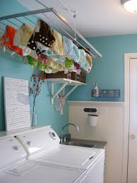 replace your dryer with an indoor drying rack on a pulley hoist