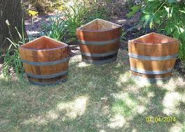 Half Barrel Planters by 56 Best Conants Wine Barrel Creations Images On Pinterest Wine