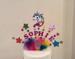 unicorn cake topper unicorn cake topper etsy