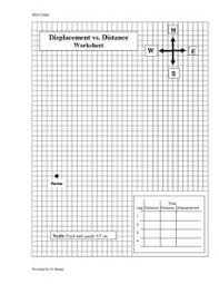 displacement vs distance worksheet 9th 12th grade worksheet
