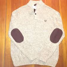 chaps sweaters 46 chaps sweaters chaps brown 1 4 button up sweater from
