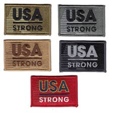 American Flag Morale Patch U S A Strong Morale Patch