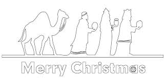 merry christmas coloring pages kids wise men christmas