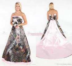 camo wedding dresses vintage strapless 2017 camo wedding dresses forest satin pink