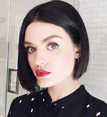 lucy hale just got a jet black bob haircut stylecaster