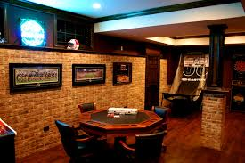 furniture splendid decoration remarkable brick wall game room