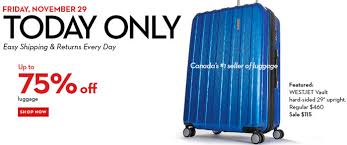 luggage deals black friday hudson u0027s bay canada black friday 2013 sale starts now online