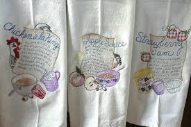 Free Kitchen Embroidery Designs White Kitchen Towels For Embroidery Towel