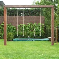 free standing single swings affordable backyard ideas