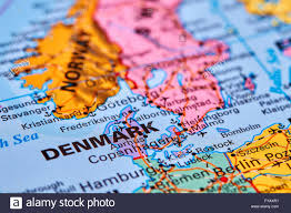 European Country Map by Denmark Country In Europe On The World Map Stock Photo Royalty