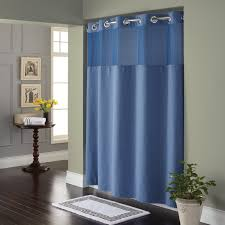 bathroom hookless shower curtain with snap liner fabric
