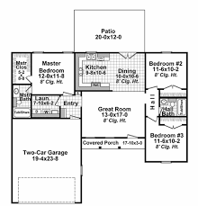 House Plans For 1200 Sq Ft Ranch Style House Plan 3 Beds 2 00 Baths 1200 Sq Ft Plan 21 327
