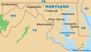 maryland mapa map usa baltimore major tourist attractions maps
