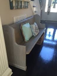 Church Pew Home Decor 34 Best Church Pews Images On Pinterest Church Pews Church Pew