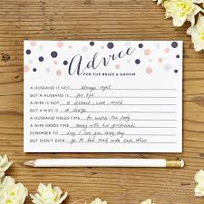 advice cards for the and groom looking for something different for your wedding to keep your
