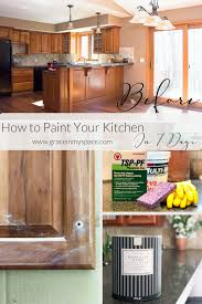 best cleaning solution for painted kitchen cabinets paint your kitchen cabinets in 7 days paint steps grace
