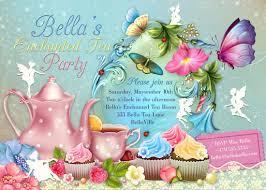 fairy tea party invitation birthday tea party tea party