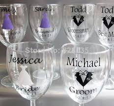 wedding decoration personalized wine glass wedding decals