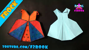 how to make an origami frock paper craft tutorial youtube