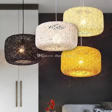 Country Pendant Lights Nest Rattan Woven Pendant Light Retro Pendant L Birdcage
