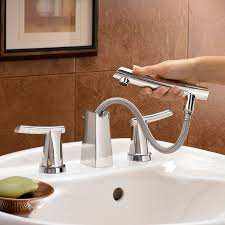 Wall Bathroom Faucet by Green Tea 8 Inch Widespread Pull Out Bathroom Faucet American