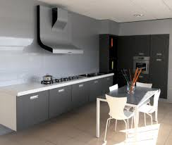 apartment kitchen decorating ideas modern grey apartment kitchen with small dining table and modern