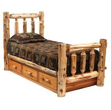 Cheap Log Bed Frames Rustic Beds King Size Cedar Traditional Log Bed With Underbed 3