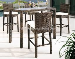 High Table Chairs Outdoor Bamboo Counter Tiki Bar Table Chair Stool Set Buy Bamboo