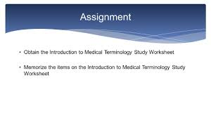 introduction to medical terminology knowledge how medical terms