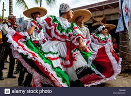 Dancing Flags Sayulita Nayarit Mexican Dancers Wear The Bright Colors Of