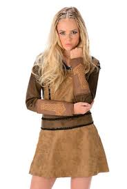Viking Halloween Costume Barbarian Ladies Fancy Dress Medieval Viking Warrior Womens