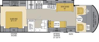 Class A Floor Plans by Mha 30 U0027 Class A Rv Motorhome Rental Worldwide