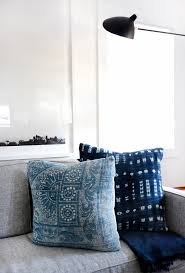 Pillow For Sofa by Home Tour A Hip Couple U0027s Fresh California Bungalow Indigo
