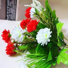 blumen geschenke zur hochzeit große künstliche nelken blumen 5 zweige 10 blumen bouquet diy