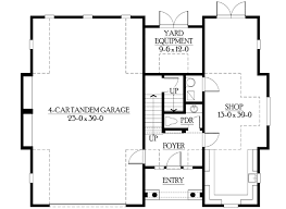 cottage like garage with living space above 23066jd
