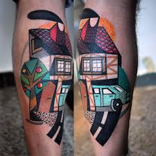 by peter aurisch tattoo vibrant tattoos by peter aurisch incorporate elements of cubism and