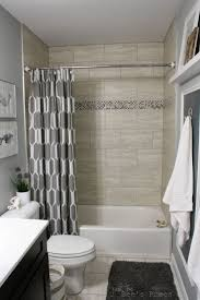 Bathroom Shower Ideas On A Budget A Exle Of Hanging The Shower Curtain Higher To Give The