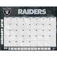 desk pad calendar 2018 oakland raiders 2018 desk pad 9781469351032 calendars com