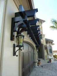 Pergola Plans Designs by A Trellis Over Garage Door Adds Nice Architectural Feature To Home