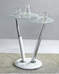 Glass Breakfast Bar Table Swirl White Glass Bar Table With 2 Glass Tops Home Changes
