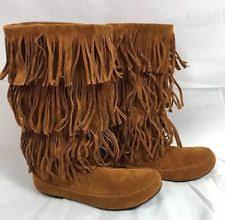 womens fringe boots size 11 suede s fringe size 11 ebay