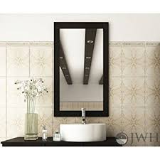 Wood Mirrors Bathroom Jwh Living Bathroom Mirror With Solid Wood Frame Home