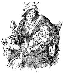 mother with her baby clipart etc