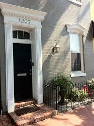 georgetown door with fluted pilasters and door crosshead http