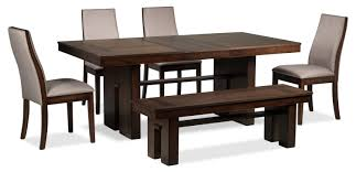 lena 6 piece dining room set cherry leon u0027s
