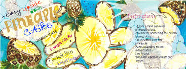 easy pineapple upside down cake by ismat shahid they draw u0026 cook